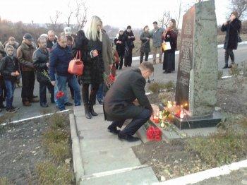 Мітинг-реквієм біля пам'ятного знаку жертвам Голодомору
