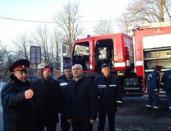 В Васильокві зявився  сучасний пожежний автомобіль МАЗ