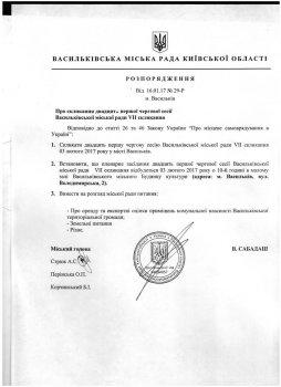 21 чергова  сесія Васильківської міської ради VII скликання