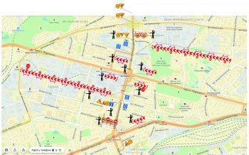 Обвал Шулявського мосту - схему об'їзду